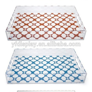 Clear Plastic Serving Tray with Insert