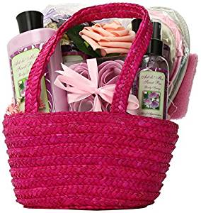 Art of Appreciation Gift Baskets Tickled Pink Sweet Pea Spa Bath and Body Gift Set by Art of Appreciation Gift Baskets