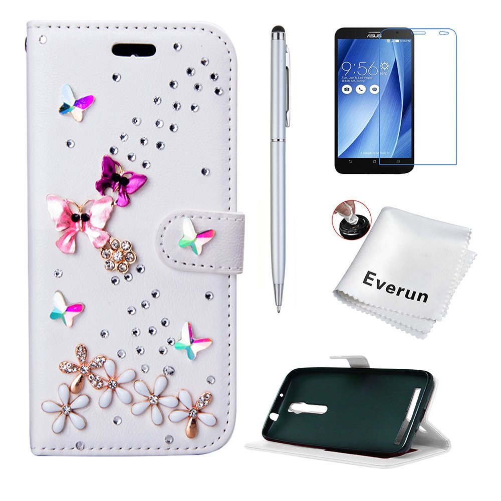 Droid Maxx 2 Case, Moto X Play Case, Everun Bling Wallet Card Slot PU Leather Flip Stand Case for Motorola Droid Maxx 2 / Moto X Play [with Free Gift]
