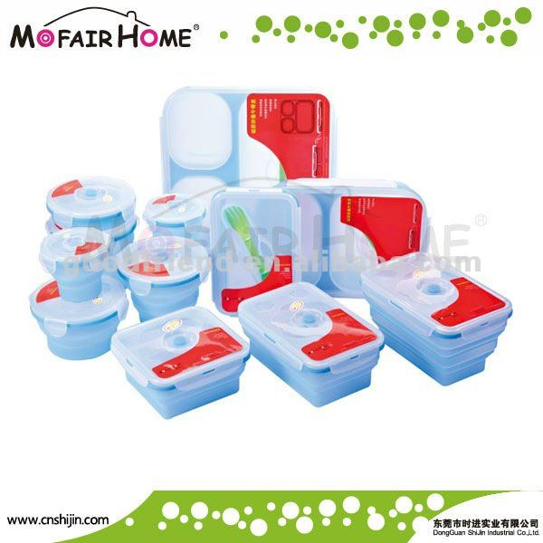 New arrival foldable heat proof food containers