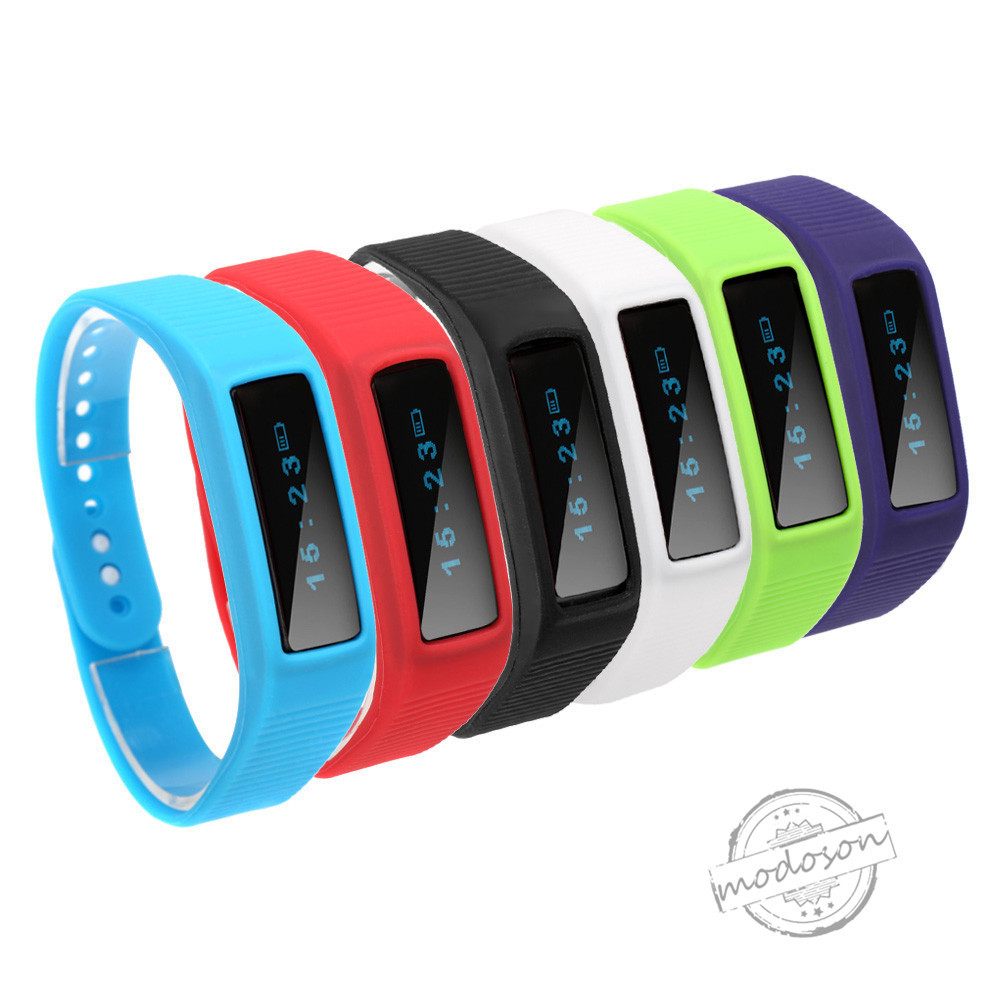 New Arrival Bluetooth 4.0 Smart Bracelet T1 Smart Wristband Bracelet Time Calorie Sleep Sport Monitor for iOS Android Phone