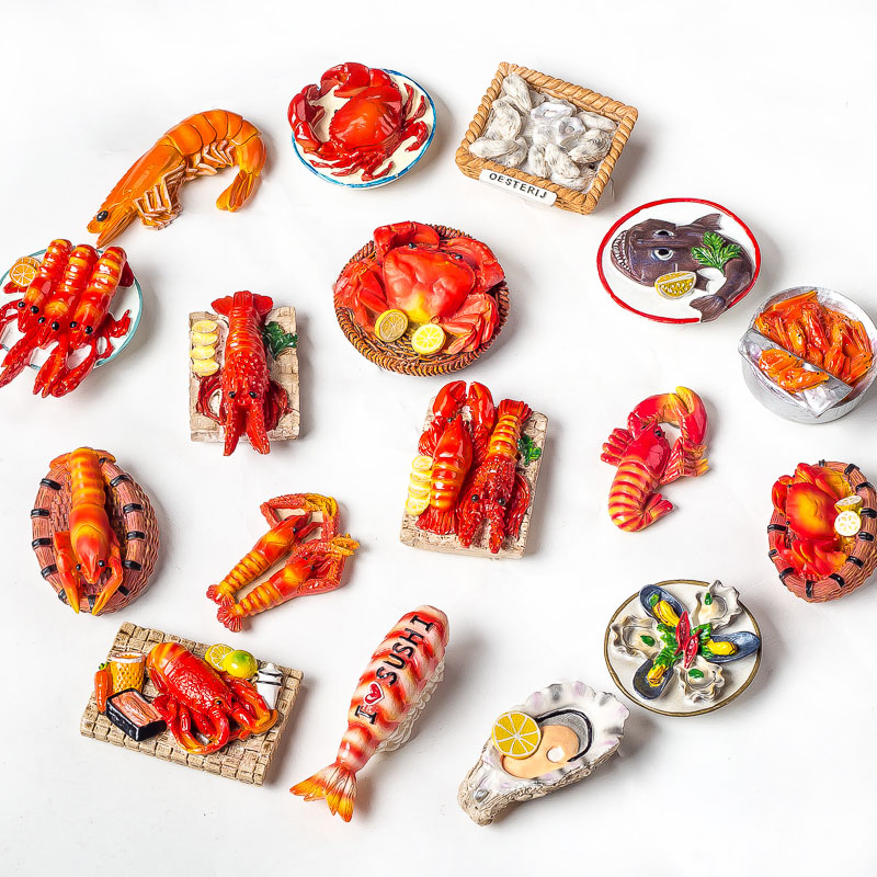 High quality bread food series resin custom 3D fridge magnet for home kitchen decoration