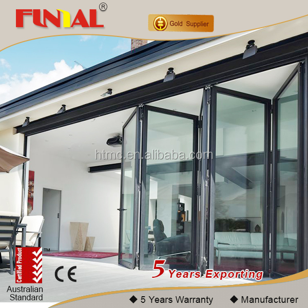 Australia standard new design thremal broken aluminium patio folding <strong>door</strong>