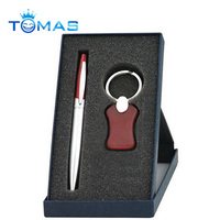 Classic ball pen and keychain set for new year business gift