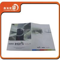 XHFJ custom printing paper file folder with business cards slot