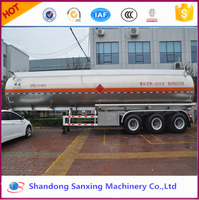 3axles 30~60CBM Liquid Fuel Cooking Diesel Crude Aluminium Alloy Tanker Trailer Semi trailer