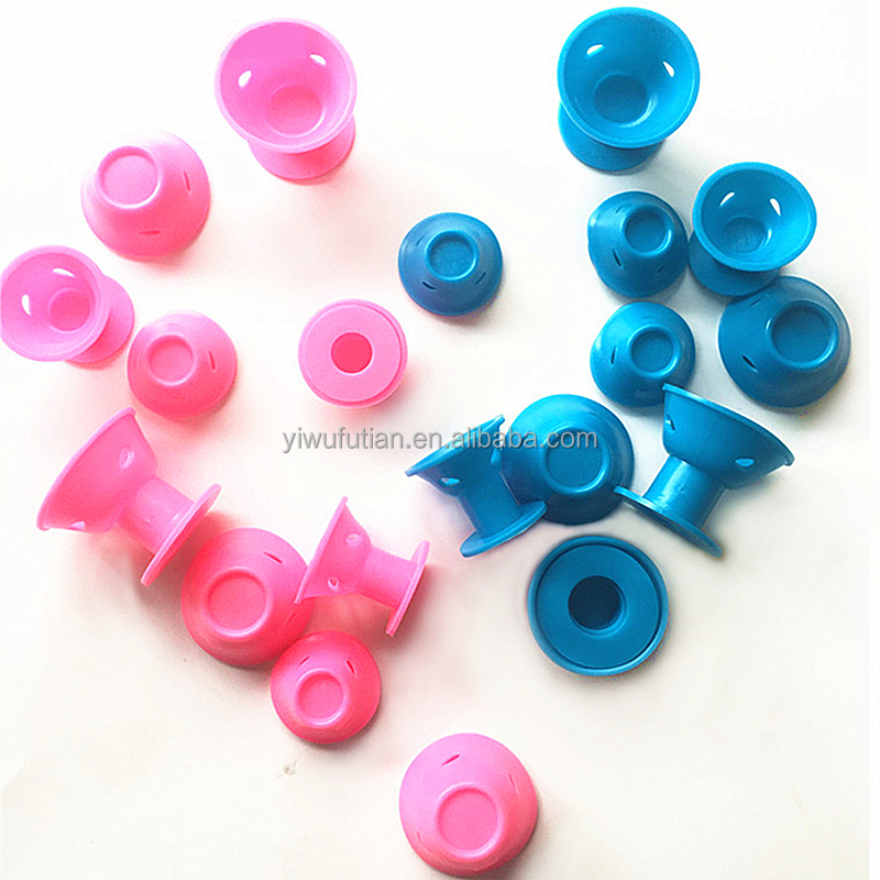 Factory Direct Sales 10 pcs Silicone Small and Flexible Hair Curler Roller DIY Magic Peco Roll фото