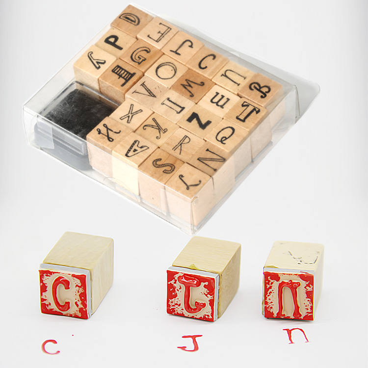 children wooden stamp set cute toy stamp used for kids teacher stamp