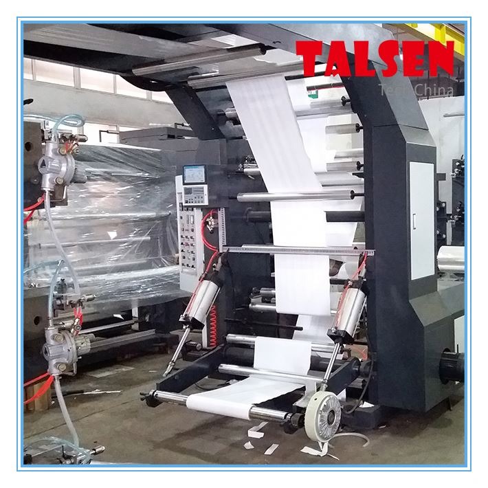 Narrow web bopp pet opp film Label film 4 color flexo printing machine
