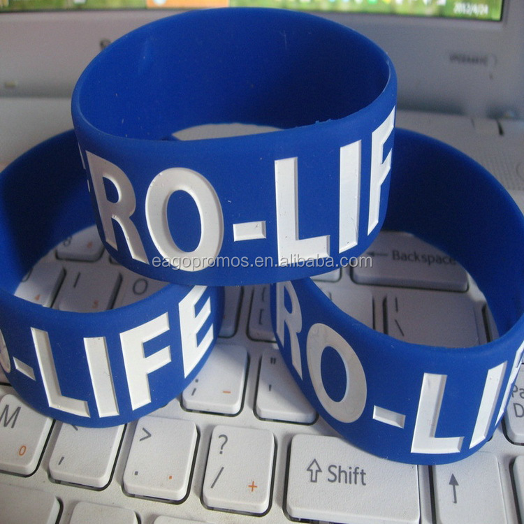 Customized silicone rubber bracelet, eco-friendly silicone wristband custom logo, Any pantone color
