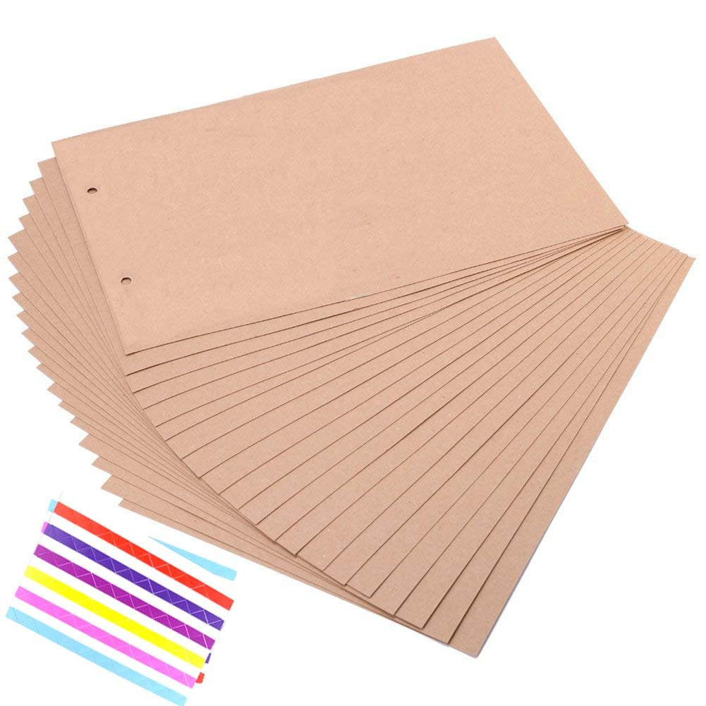 Scrapbook Craft Paper Refill Pages for Our/My Adventure Book Scrapbook Photo Album in Size of 11.6x7.5 inches 20 Sheets Extra Page with 2 Photo Corners (Our/My Page)