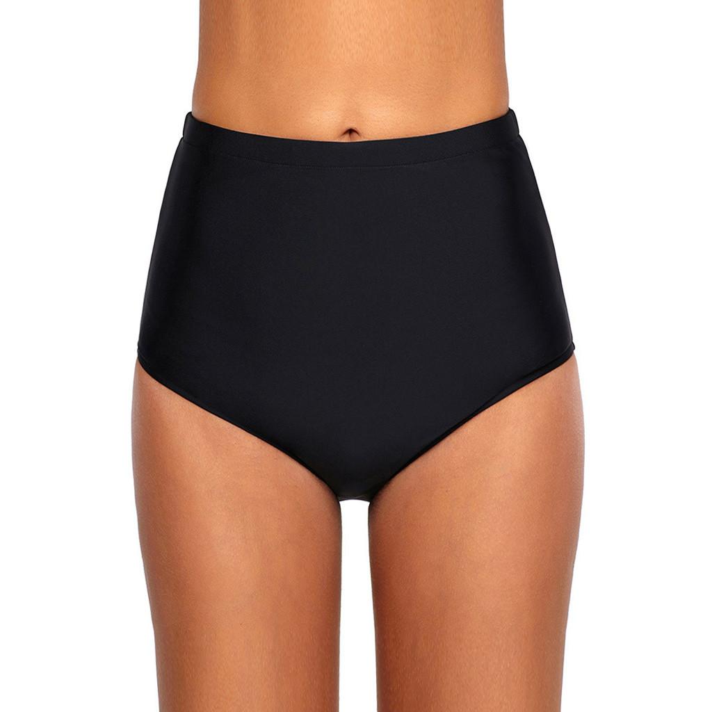 ede098a70f Women Girls High Waist Sexy Tankini Beach Skinny Swimwear Trunks Pants Brief