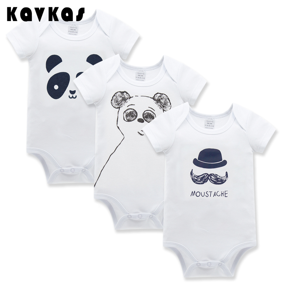 2016 High Quality Baby Rompers Short Sleeve 3pcs/lot Baby Wear Infant Jumpsuit Boys Girls Clothes Roupas De Bebe Infantil