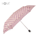 Beautiful Eco-friendly Pongee Dot Sun Small 3 Folding Umbrella