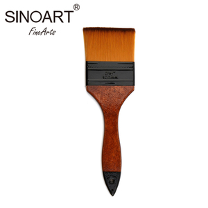 Wholesale High Quality Nylon Hair Wooden Handle Artist Bulk Paint Brushes