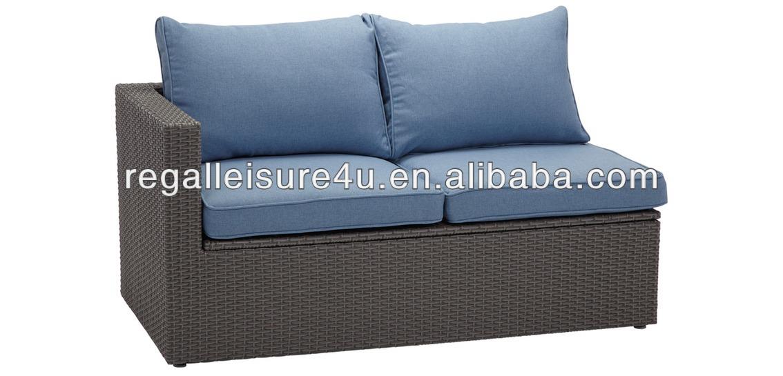 5Pcs al aire libre jardín poli sofá de mimbre conjunto muebles de ...