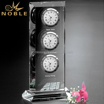 Noble Custom Award Office Decoration K9 Crystal Desk Clock