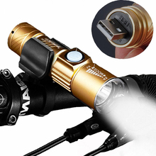 Bike Light 2000 Lumen Bicycle LED Front Light Aluminum USB Charging Smart Cycling Bicycle Headlight Warning Light