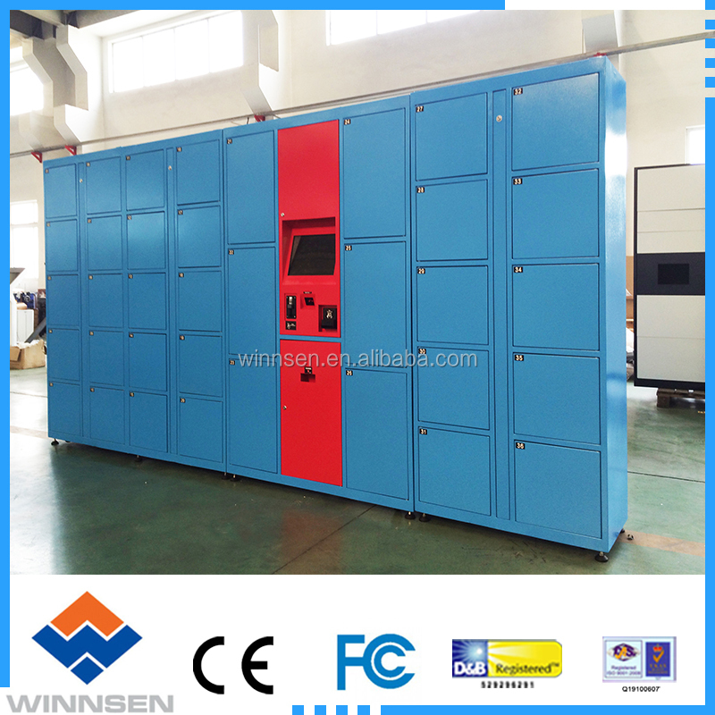 Wireless Monitoring Delivery Parcel Collection Lockers with Secured Electronic Locker System