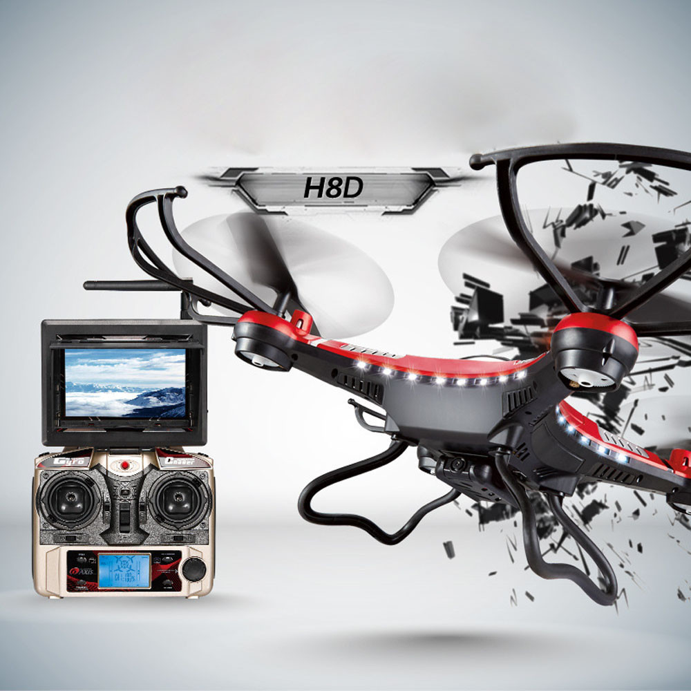 Best seller Free Shipping H8D 6 Axis Gyro 5 8G FPV RC Quadcopter Drone HD Camera