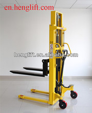 Good quality 1.5ton lifting 2000mm 2500mm HS series double chain ,double frame hand forklift manual stacker CE