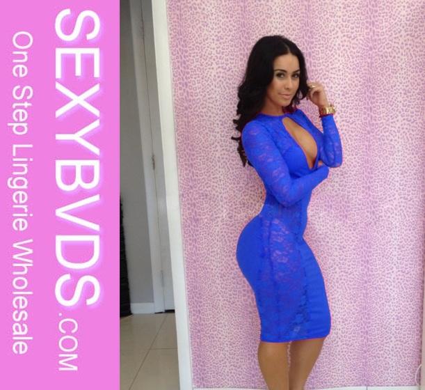 Venta al por mayor vestidos color azul agua-Compre online los ...