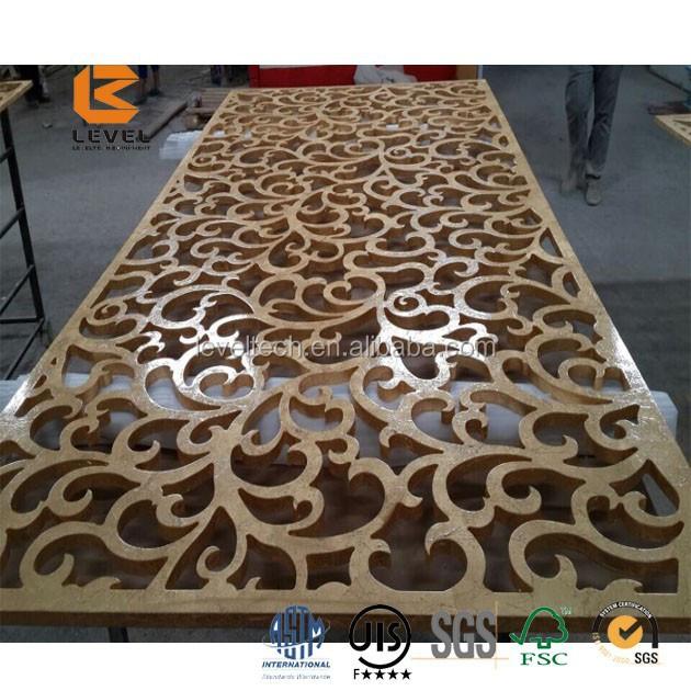 D coratif laser cut m tal panneaux mdf grille panneaux usine parois des - Panneau mdf decoratif ...