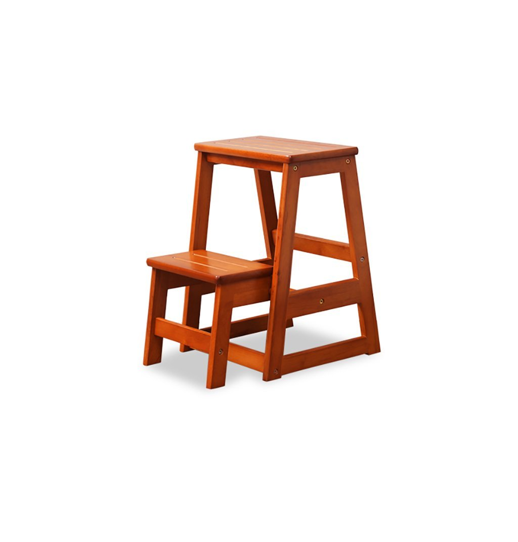 YXWyz Folding Tables Solid wood staircase stool chair/household two-step wooden ladder/dual folding stool kitchen stool ladder stool Reception Chairs