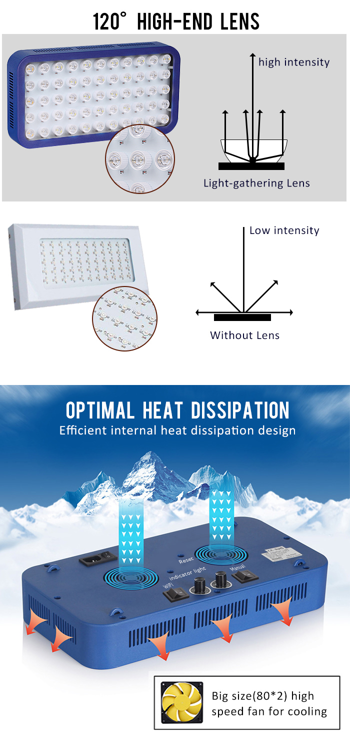 日の出日没シミュレーション付き調光可能wifiリモートコントロールledアクアリウムライト