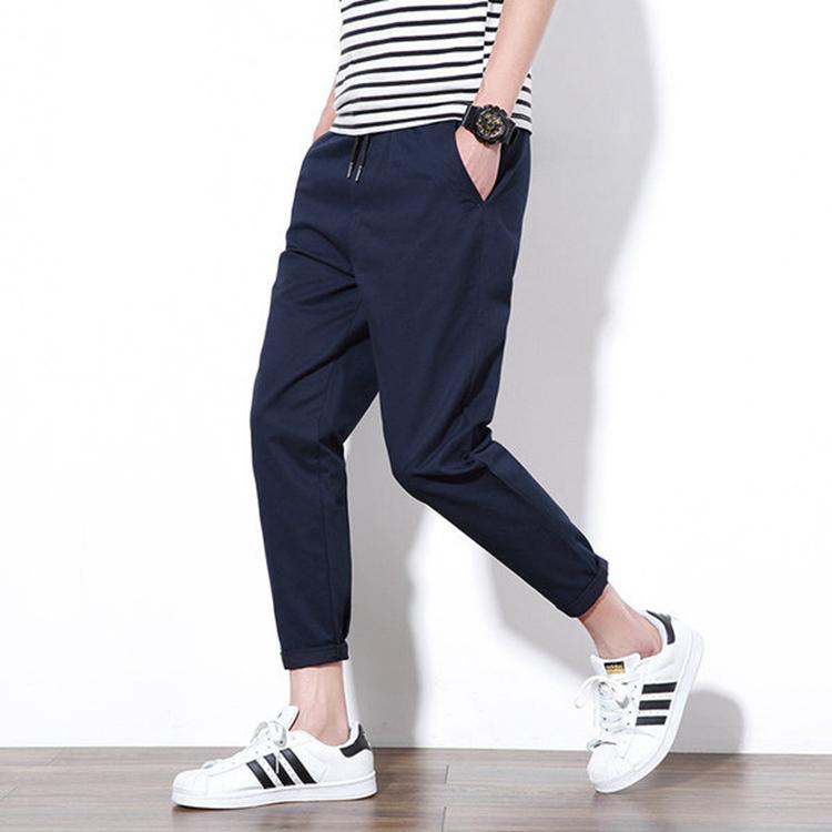 100% coton Décontracté Pantalons Longs En Gros Hommes Jogger Pantalons De Survêtement Blanc