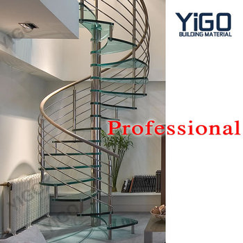 High Quality Spiral Staircases With Cable/metal Stairs External