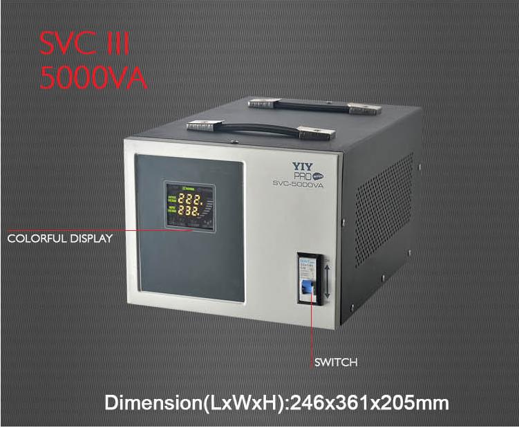 PRO-5KVA AC automatic voltage regulator stabilizer AC 220V servo type colorful