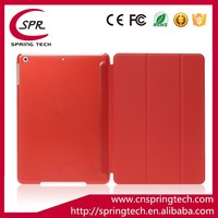 Bright red pad PU holder case for ipad mini