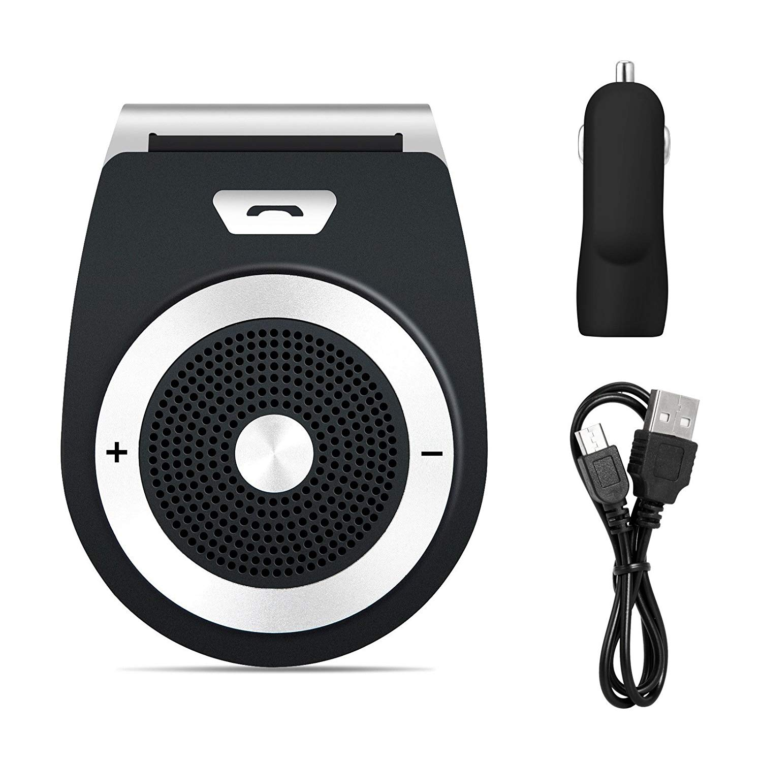 Car Bluetooth Speaker, Bunnyfan Wireless Portable Motion AUTO-ON Car Bluetooth Speakerphone for Stereo Music Playing, Hands-Free Calling with Car Charger