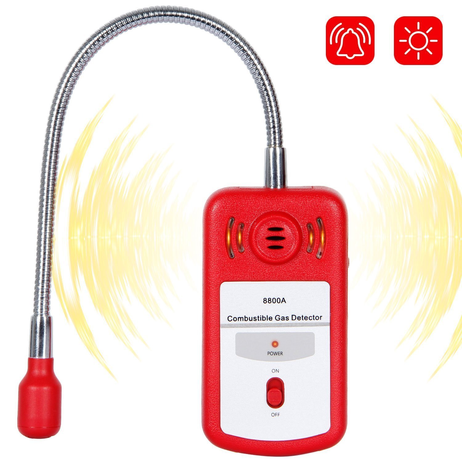 Combustible Gas Detector Portable Gas Leak Location Determine Tester with Sound-Light Alarm