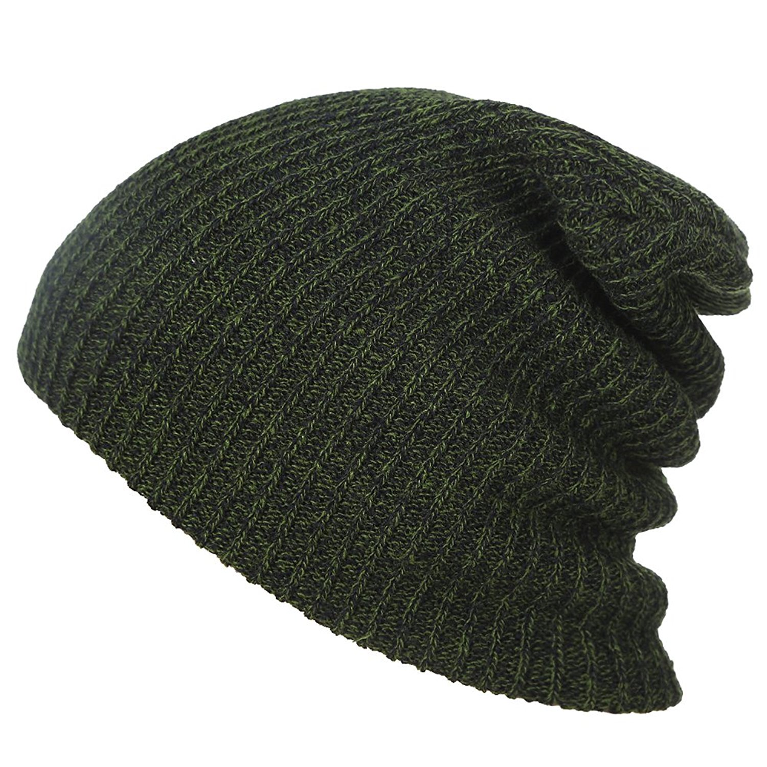 MEXUD Mens Slouchy Long Oversized Beanie Knit Cap Ski Slouchy Chic Cap Skull