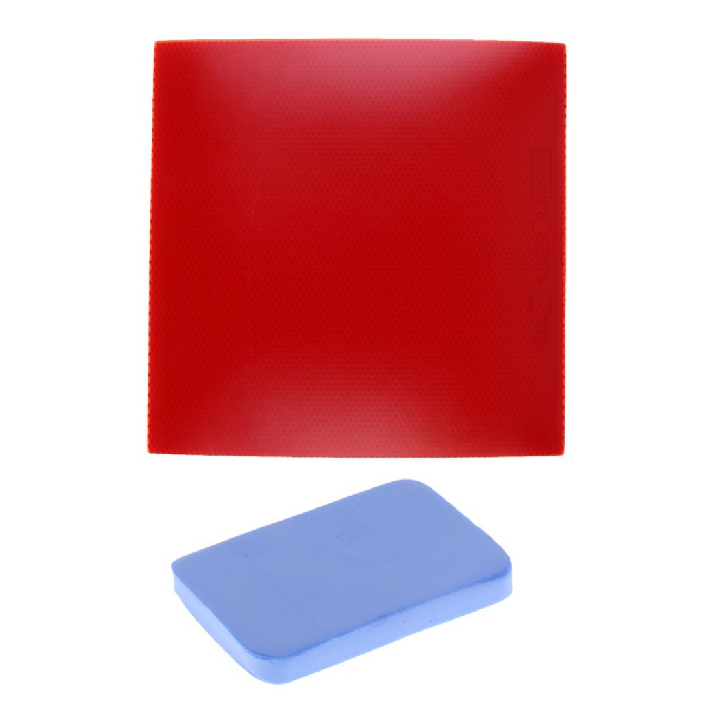 Homyl Table Tennis Paddle Replacement Rubber Plus Rubber Cleaning Sponge Bat Rubber Care Wiper