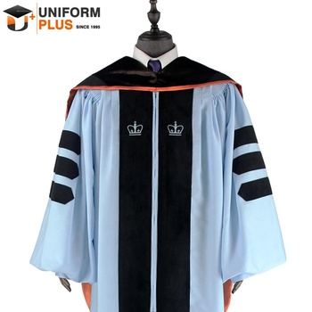 Customized university academic phd doctoral regalia and graduation gown