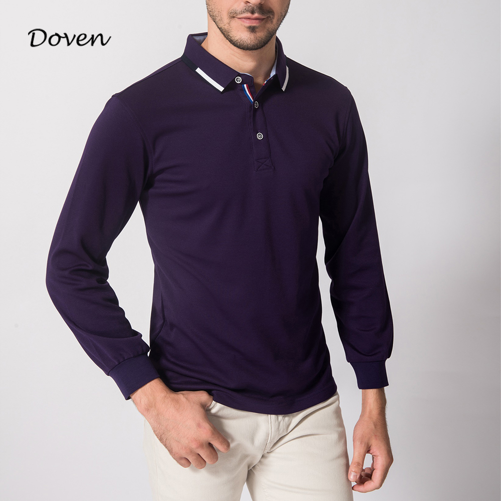 Anti-shrink breathable long sleeve men' blank polo shirt