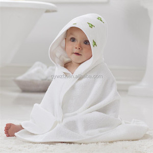 Antimicrobial plain hooded baby /infant bath towels