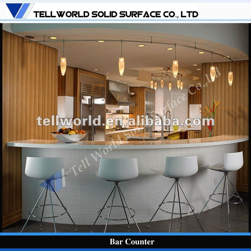 2012 Tell World New Design Commercial Luxury Home Bar Furniture Kitchen Bar Counter