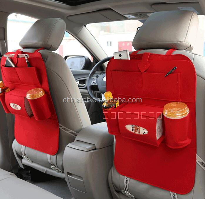 eco-friendly nonwoven fabric car back seat organizer felt bag