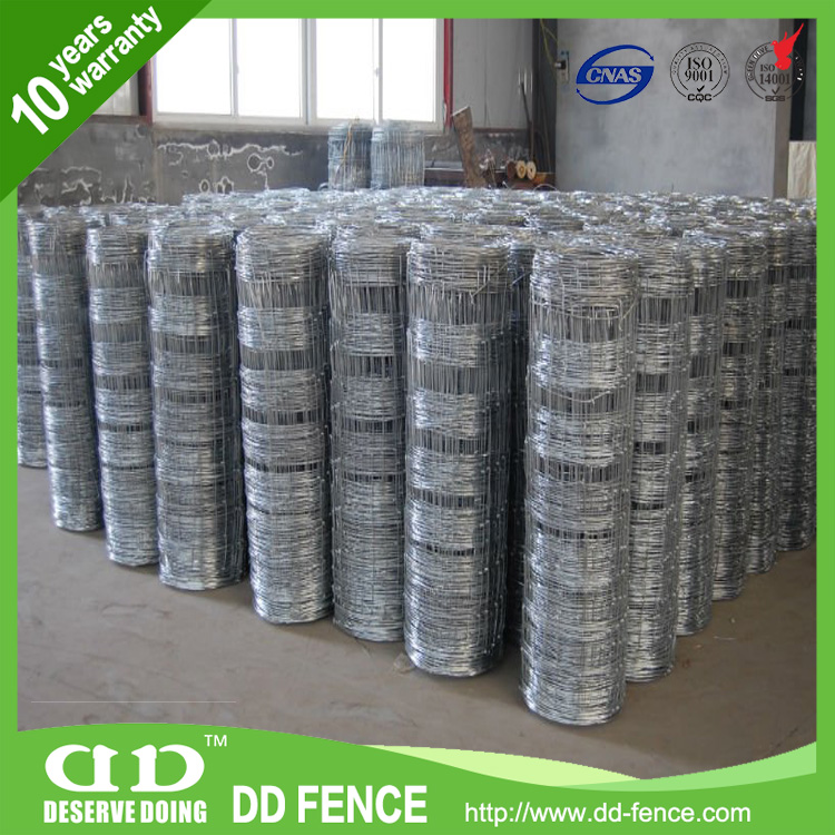 galvanized cattle wir mesh fence /steel wire field fencing /pens for sal