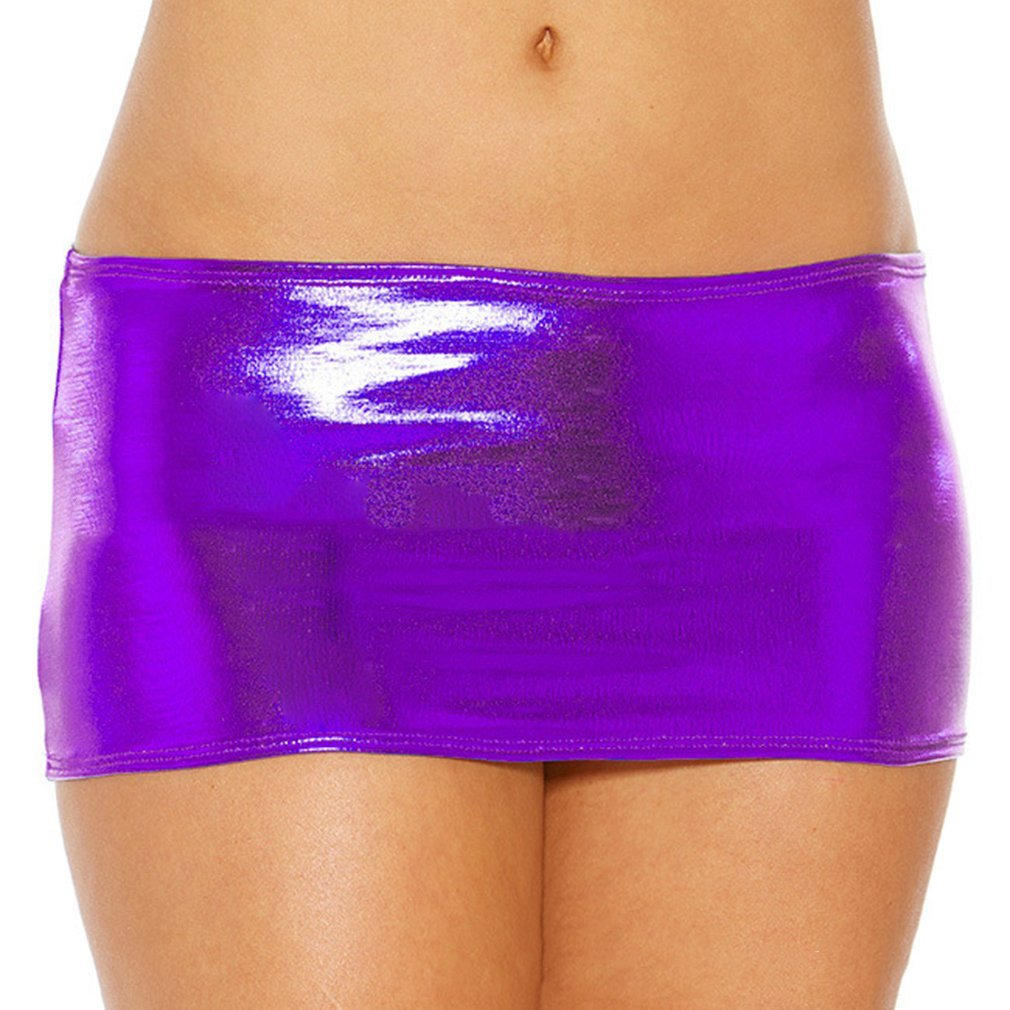 Meolin Sexy Lingerie Low Waist Bronzing Package Hip Ultra-short Skirts,Nylon,8.27inch