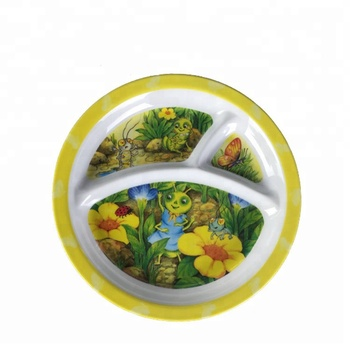 Great Quality 3 Compartment Baby Melamine Dinnerware Plates