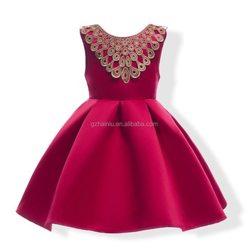 Summer 2017 Satin Party Dresses Kids Pretty Birthday Dress For Children Of 3 8 Years