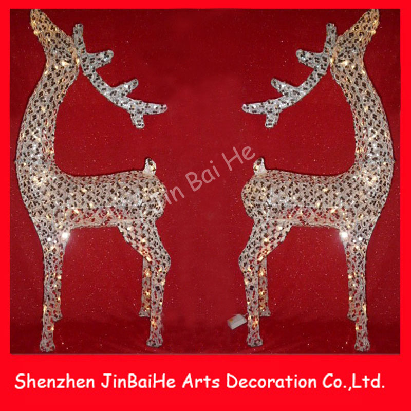 Lighted Christmas Deer Decorations Reindeer LED Lighting for Shopping Mall Hotel Hotel Garden Decorating