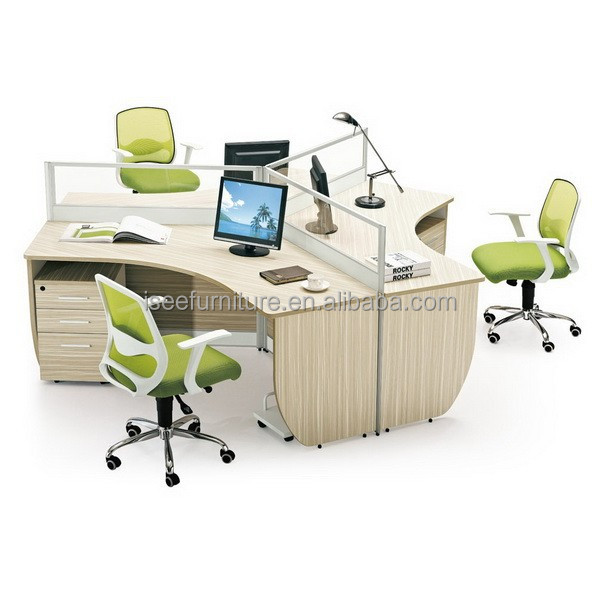 3 person office workstation/office furniture with modern design IC011