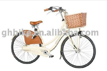 beach cruiser bike with basket and fender and skrit guard passed CE