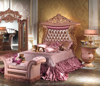 luxury italian bedroom furniture. luxury pink color with gold children girl bedroom furniture single bed italian r